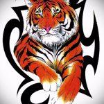 Оригинальный эскиз наколки тату тигр (рисунки для татуировки с тигром) - идея рисунка эскизы тату тигр (рисунки для татуировки с тигром) для разработки уникальной идеи тату тигр