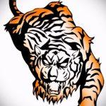 Классный эскиз тату тату тигр (рисунки для татуировки с тигром) - вариант рисунка эскизы тату тигр (рисунки для татуировки с тигром) для разработки стильной идеи тату тигр