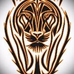 Крутой эскиз наколки тату тигр (рисунки для татуировки с тигром) - вариант рисунка эскизы тату тигр (рисунки для татуировки с тигром) для разработки эксклюзивной идеи тату тигр