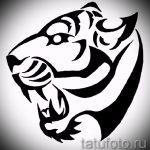 Оригинальный эскиз татуировки тату тигр (рисунки для татуировки с тигром) - идея рисунка эскизы тату тигр (рисунки для татуировки с тигром) для создания интересной идеи татуировки тигр