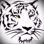 Классный эскиз наколки тату тигр (рисунки для татуировки с тигром) - вариант рисунка эскизы тату тигр (рисунки для татуировки с тигром) для разработки стильной идеи тату тигр