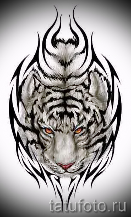 Эскизы тату в виде тигра