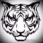 Интересны эскиз наколки тату тигр (рисунки для татуировки с тигром) - вариант рисунка эскизы тату тигр (рисунки для татуировки с тигром) для создания стильной идеи татуировки тигр