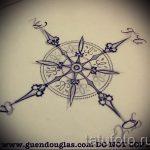 Прикольный рисунок с розой ветров – подойдет для эскиза под качественную татуировку