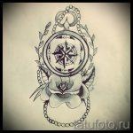 Качественный рисунок с розой ветров – подойдет для эскиза под зачетную татуировку