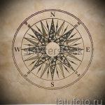 Интересный рисунок с розой ветров – подойдет для эскиза под хорошую татуировку
