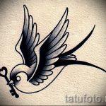 Оригинальный рисунок ласточки - который великолепно подойдет как эскиз для заметной тату ласточка