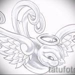 Оригинальный рисунок ласточки - который классно подойдет как эскиз для эксклюзивной наколки ласточка
