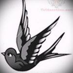 Стильный рисунок ласточки - который достойно подойдет как эскиз для интересной татуировки ласточка