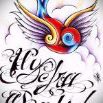 Стильный рисунок ласточки - который достойно подойдет как эскиз для заметной татуировки ласточка