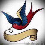Красивый рисунок ласточки - который отлично подойдет как эскиз для заметной тату ласточка