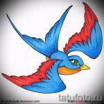 Классный рисунок ласточки - который великолепно подойдет как эскиз для эксклюзивной татуировки ласточка