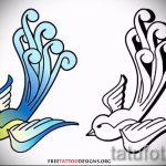 Необычный рисунок ласточки - который отлично подойдет как эскиз для крутой наколки ласточка