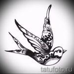 Стильный рисунок ласточки - который великолепно подойдет как эскиз для крутой татуировки ласточка