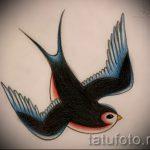 Красивый рисунок ласточки - который отлично подойдет как эскиз для крутой тату ласточка