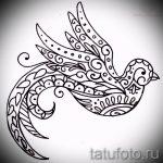 Оригинальный рисунок ласточки - который великолепно подойдет как эскиз для крутой татуировки ласточка