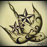 Классный рисунок ласточки - который достойно подойдет как эскиз для заметной тату ласточка