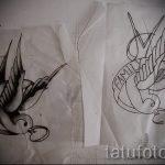 Необычный рисунок ласточки - который достойно подойдет как эскиз для эксклюзивной тату ласточка
