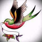 Крутой рисунок ласточки - который хорошо подойдет как эскиз для крутой тату ласточка