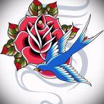 Оригинальный рисунок ласточки - который отлично подойдет как эскиз для интересной татуировки ласточка