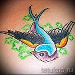 Красивый рисунок ласточки - который достойно подойдет как эскиз для эксклюзивной тату ласточка