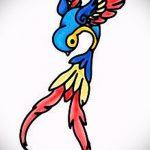 Стильный рисунок ласточки - который хорошо подойдет как эскиз для эксклюзивной тату ласточка