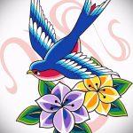 Необычный рисунок ласточки - который великолепно подойдет как эскиз для крутой татуировки ласточка