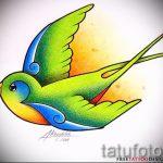 Оригинальный рисунок ласточки - который отлично подойдет как эскиз для эксклюзивной тату ласточка