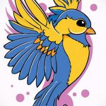 Классный рисунок ласточки - который классно подойдет как эскиз для интересной татуировки ласточка