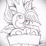 Оригинальный рисунок ласточки - который хорошо подойдет как эскиз для эксклюзивной татуировки ласточка
