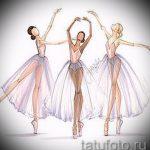 Вариант стильного эскиза для татуировки с балериной - создание заметной идеи для татуировки