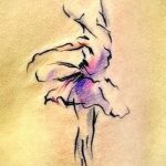 Пример необычного эскиза для тату с балериной - создание уникальной идеи для татуировки