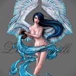 Крутой вариант эскиза наколки водолей – знак водолея (созвездие) – рисунок для татуировки