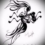 Красивый вариант эскиза тату водолей – символ водолея (созвездие) – рисунок для татуировки
