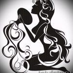 Классный вариант эскиза тату водолей – символ водолея (созвездие) – рисунок для татуировки