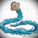 Достойный вариант эскиза наколки водолей – символ водолея (созвездие) – рисунок для татуировки