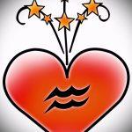 Классный вариант эскиза татуировки водолей – символ водолея (созвездие) – рисунок для татуировки