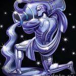 Стильный вариант эскиза тату водолей – знак водолея (созвездие) – картинка для татуировки