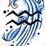 Классный вариант эскиза наколки водолей – символ водолея (созвездие) – картинка для татуировки