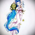 Крутой вариант эскиза татуировки водолей – символ водолея (созвездие) – рисунок для татуировки