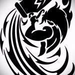 Крутой вариант эскиза тату водолей – символ водолея (созвездие) – рисунок для татуировки