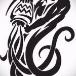 Классный вариант эскиза наколки водолей – знак водолея (созвездие) – рисунок для татуировки