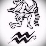 Стильный вариант эскиза татуировки водолей – знак водолея (созвездие) – картинка для татуировки