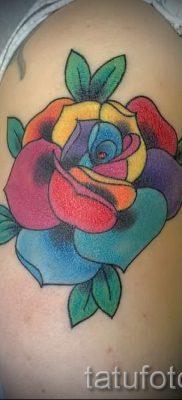 Интересный пример тату радуга на фото – для публикации про толкование рисунка радуги в тату