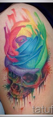 Крутой пример татуировки радуга на фото – для материала про историю рисунка радуги в тату