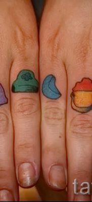 Прикольный вариант тату радуга на фото – для статьи про историю рисунка радуги в тату