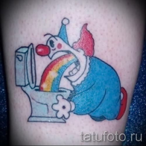 Необычный пример тату радуга на фото – для публикации про смыс рисунка радуги в тату