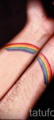 Крутой пример наколки радуга на фото – для материала про историю рисунка радуги в тату