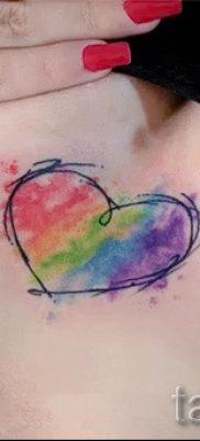 Прикольный пример тату радуга на фото – для материала про толкование рисунка радуги в тату