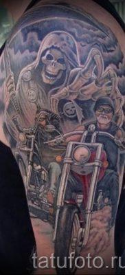 Фото пример татуировки байкеров для статьи про значение – tatufoto.ru – 85